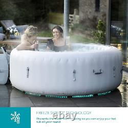 Lay-Z-Spa Paris Hot Tub with Built In LED Light System, 140 AirJet Massage Spa