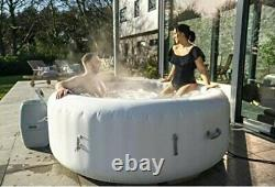 Lay -Z-Spa Paris Hot Tub with LED Lights, Airjet Inflatable, 4-6 PersonNEW