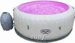 Lay -Z Spa Paris Hot Tub with LED Lights, Airjet Inflatable, 4-6 Person