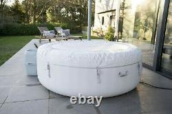 Lay-Z-Spa Paris Hot Tub with LED Lights, Airjet Inflatable, 4-6 Person Lazy