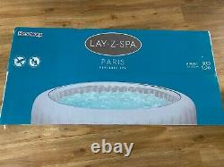 Lay-Z Spa Paris Luxury Inflatable Hot Tub (4-6 people) with LED lights FREE P&P