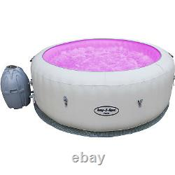 Lay -z-spa Paris Hot Tub With Led Lights Airjet Inflatable 4-6 Person Garden Jet