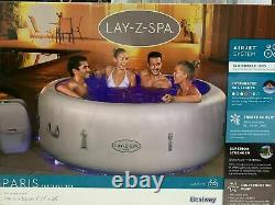 Lazy Spa Paris 4-6 Person Luxury Inflatable Hot Tub Massage Air Jets LED Lights