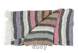 MISSONIHOME SHAWL BEACH TOWEL RAMIRO 160 FRINGED 100% LINEN 100x180cm 39 x70