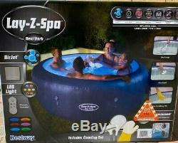 NEW LED Lights New York Lay-Z-Spa Airjet 4-6 Hot Tub (Plus FREE Cleaning Kit)