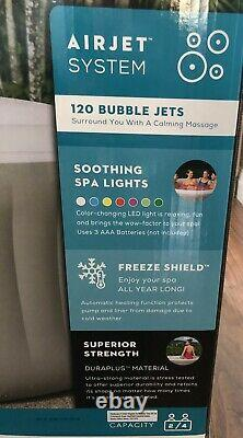 New Lay Z Spa Lazy Hot Tub With LED Lighting