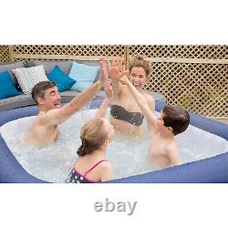 New Lay-z-spa Paris Hot Tub With Built In Led Light System Freeze Shield Garden