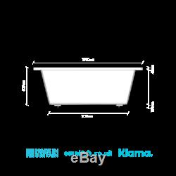 Omnitub Duo Ultra Deep Soaking Bath 1250mm 1500mm Length x 1500mm Width x 600mm