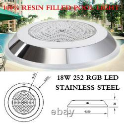 Resin Filled 252 LED RGB Underwater Light Show for Swimming Pool Spa Hot Tub
