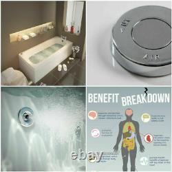 Square Single Ended Bath Tub Whirlpool Spa Lights 6-8-11 Jets Six Sizes 2 Choose
