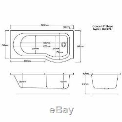 Trojan Concert Shower Bath 24 Jet Whirlpool Spa Bath With Panel, Screen & Light