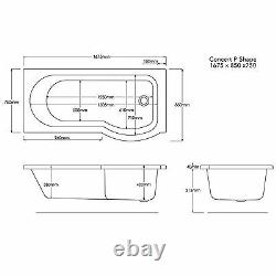 Trojan Concert Shower Bath 8 Jet Whirlpool Spa Bath With Panel, Screen & Light